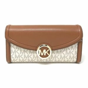 NWT Michael Kors Fulton Logo Wallet GREAT GIFT!